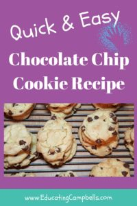Quick & Easy Chocolate Chip Cookie Recipe - Pinterest Image