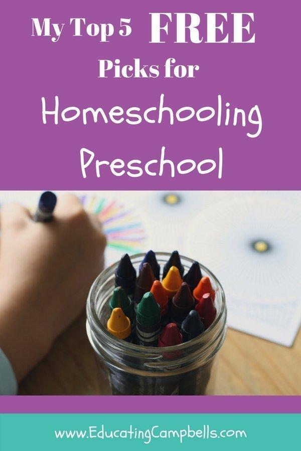 Top 5 Picks for Homeschooling Preschool Pinterest Image