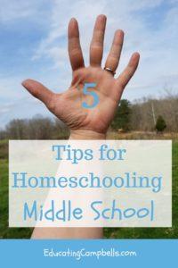 open hand, 5 Tips for Homeschooling Middle School
