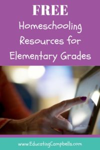 Pinterest Image for Free Homeschooling Resources for Elementary Grades