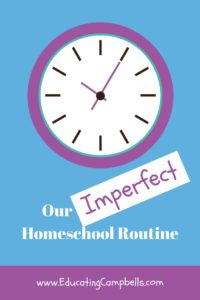 Our Homeschool Routine Pinterest Image