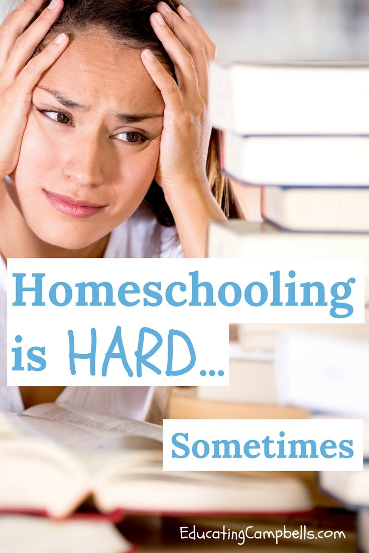 Woman frustrated with homeschooling