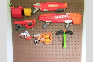 DIY Nerf Pegboard Storage Wall