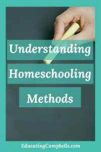 chalk on blackboard, understanding homeschooling methods -- Pinterest Image