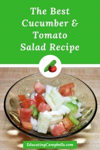 The Best Cucumber & Tomato Salad Recipe Pinterest Image