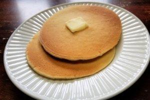 Plate of easy vanilla pancakes