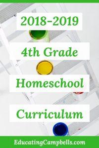 2018-2019 4th grade homeschool curriculum, ladder with paint buckets