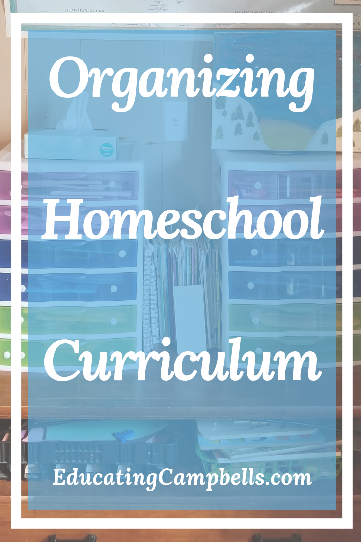 Pinterest Image - Organizing Homeschool Curriculum