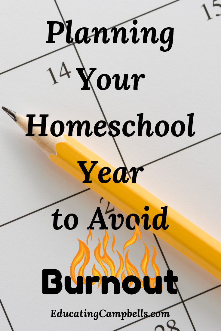 Planning Your Homeschool Year to Avoid Burnout - calendar with pencil