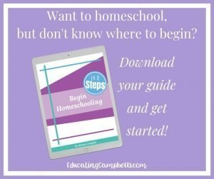 Begin Homeschooling in 8 Steps Guide -- Widget Ad