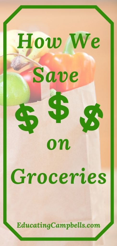 Grocery bag, how we save money on groceries