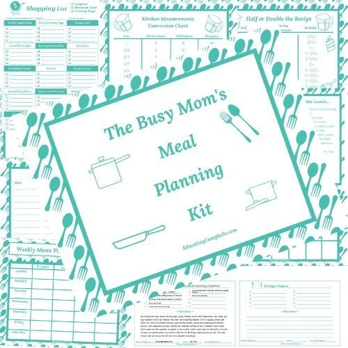 The Busy Mom's Meal Planning Kit -- examples