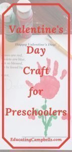 Pinterest Image -- Preschool keepsake handprint craft