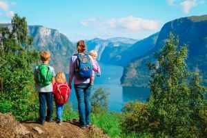 When Your Family is Anti-Homeschooling, mom and kids at mountain lake
