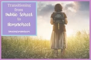 Transitioning from Public School to Homeschool, girl with back pack in field