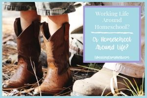 Incorporating Life Into Homeschool or Homeschool Into Life, man and boy's boots