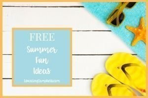 Summer Fun Ideas Featured Image, beach towel, starfish, flipflops, and sunglasses on boardwalk
