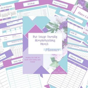 homeschooling planner contents graphic image