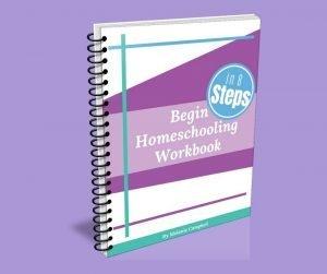 image of begin homeschooling in 8 steps workbook