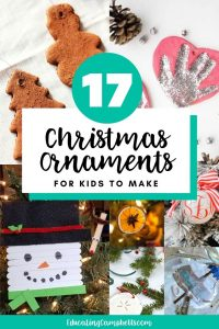 christmas ornaments for kids to make collage pinterest image with text overlay