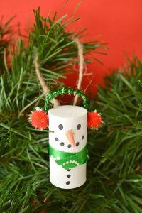 easy wine cork snowman ornament