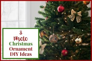 Featured Image - 8 Photo Christmas Ornament DIY Ideas, decorated christmas tree