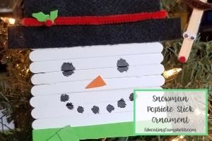 snowman popsicle stick ornament featured image