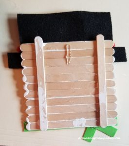 step in snowman popsicle stick ornament