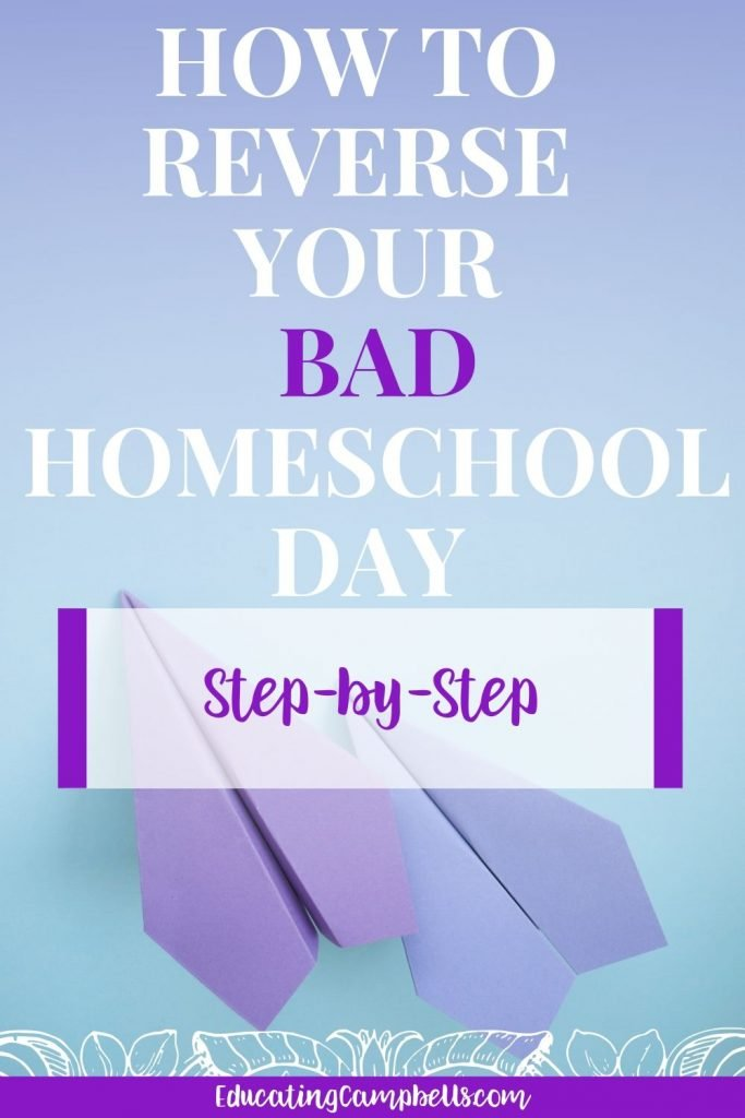 paper airplanes with text overlay, how to everse your bad homeschool day step-by-step