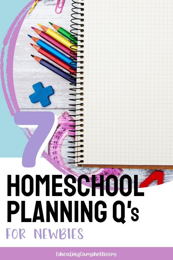 homeschool planning, writing instruments and paper