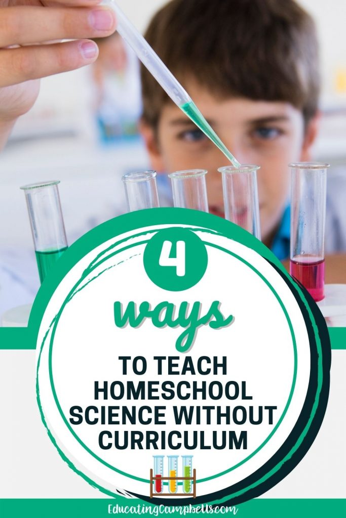 pinterest image for homeschool science without curriculum