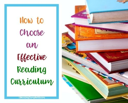 featured image for How to Choose an Effective Reading Curriculum -- colorful stack of children's books
